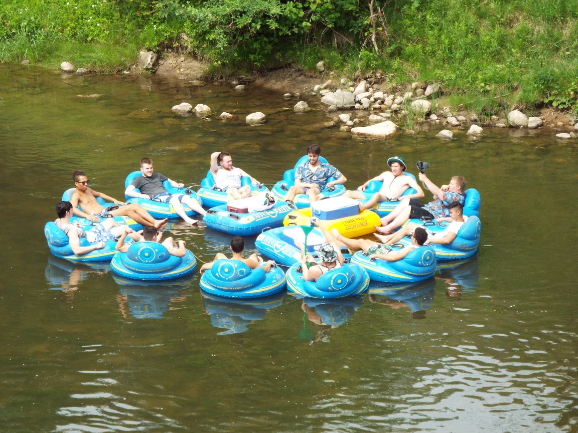 Tubing at River View Campground & Canoe Livery